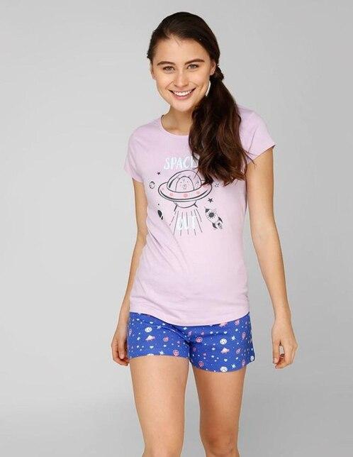 39e56bc6f7 Conjunto pijama Non Stop estampado cuello redondo