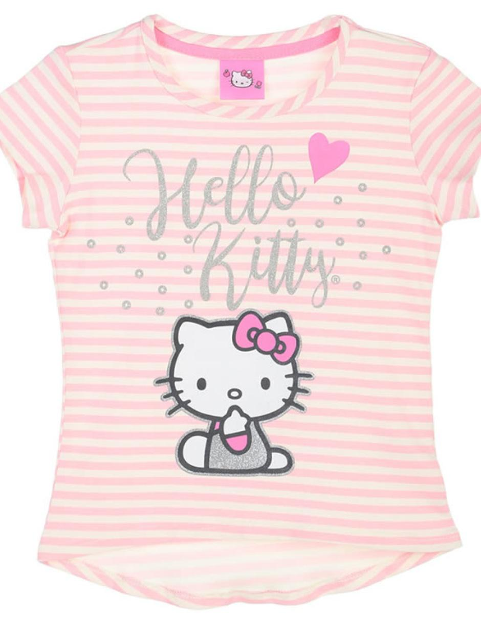 bca47712d0fed Playera Hello Kitty estampada para niña